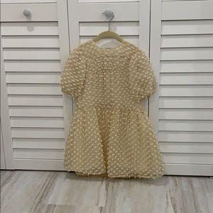 Zara cream dress (girls size 7) worn once